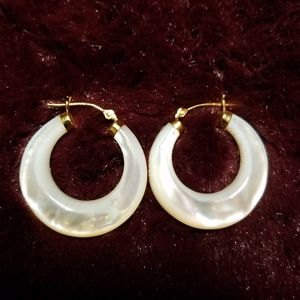Ross-Simons 14k gold translucent hoops